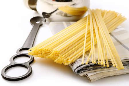 Spaghetti alla chitarra, guitar pasta, square spaghetti.