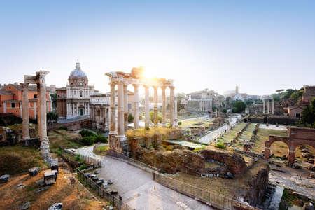 The Roman Forum at dawn, Rome, Italy.
