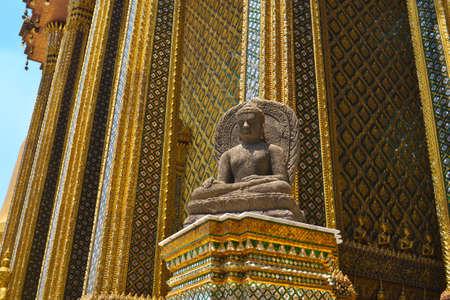 kaew: Stone Buddha in Royal Palace Wat Phra Kaew , Bangkok, Thailand Editorial