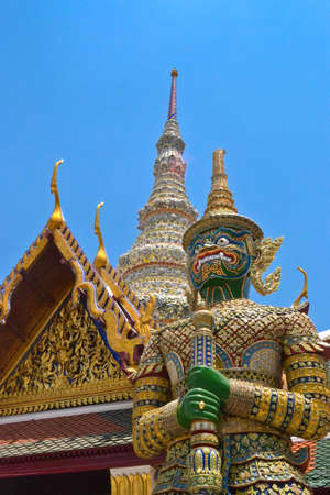 Thai giant guardian of Emerald Buddha Temple  photo
