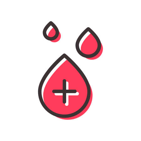 blood transfusion flat outline icon on transparent background