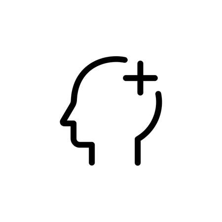head aid outline icon on transparent background
