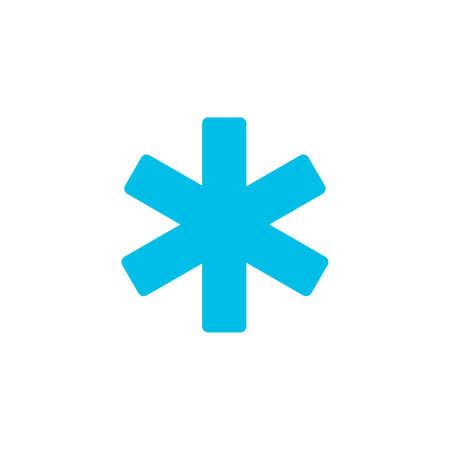 hospital ems icono plano sobre fondo transparente