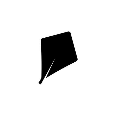 rhomboid leaf glyph icon on transparent background Ilustração