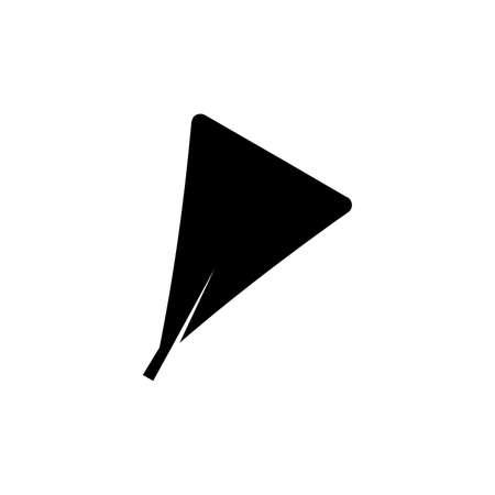 obdeltoid maple leaf glyph icon on transparent background