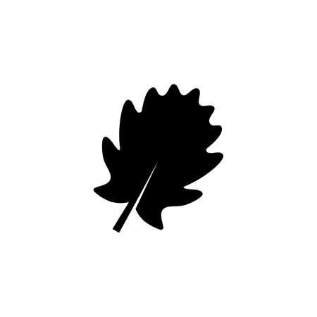 pinnatifid oak leaf glyph icon on transparent background