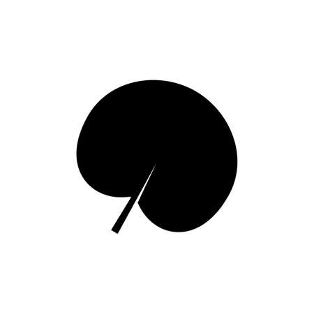 reniform leaf glyph icon on transparent background Ilustração