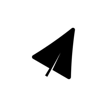 deltoid leaf glyph icon on transparent background