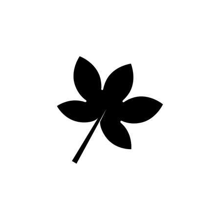palmatifid maple leaf glyph icon on transparent background Ilustração