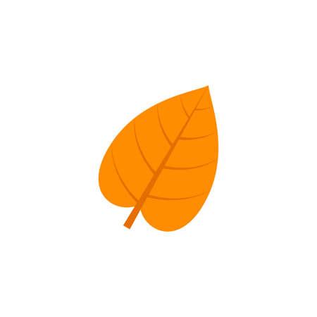 cordate leaf flat icon on transparent background