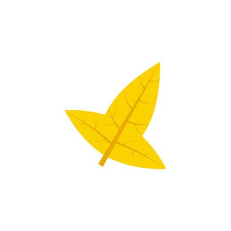 hastate leaf flat icon on transparent background Ilustração