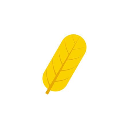 oblong maple leaf flat icon on transparent background Ilustração