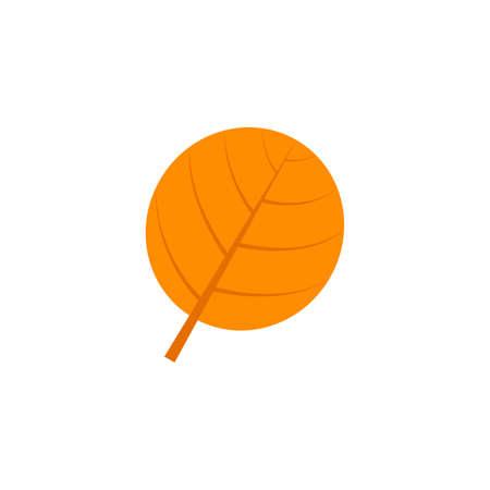 orbicular maple leaf flat icon on transparent background