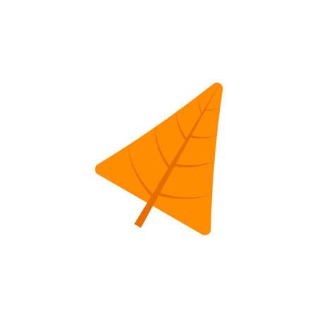 deltoid leaf flat icon on transparent background