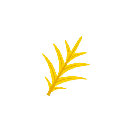 pinnatisect leaf flat icon on transparent background
