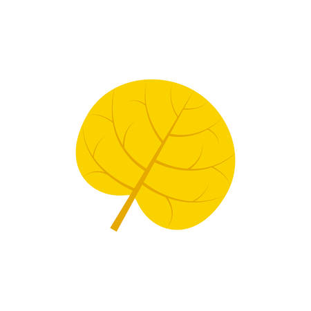 reniform leaf flat icon on transparent background Ilustração
