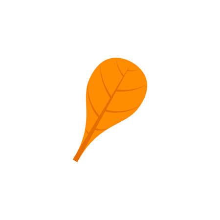 spathulate leaf flat icon on transparent background Ilustração