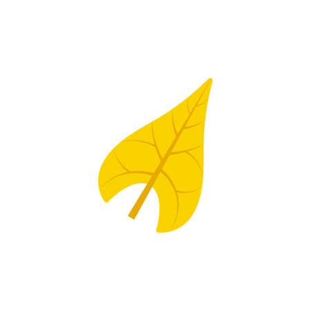 sagittate leaf flat icon on transparent background