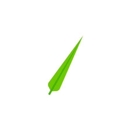 subulate leaf flat icon on transparent background