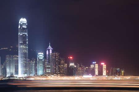Hong Kong night scene. City landscape. Stock Photo - 9313607