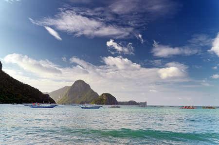 landsape: Tropical sea landsape. Philippines, El Nido.