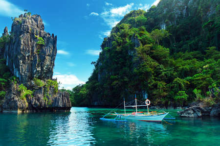 bay: Magnificent tropical sea. Philippines. El Nido.