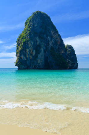 KRABI: Tropical sea landscape. Thailand, Krabi, Railay beach.