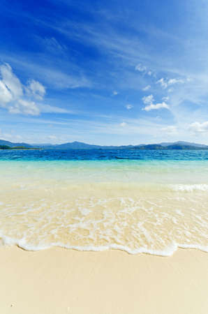 Paradise beach. Sea and sky. Stock Photo - 9739220