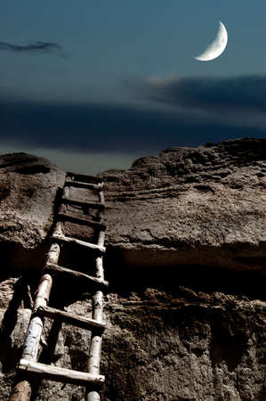 stairway to heaven in moonlight photo