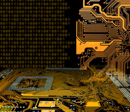 schematic: abstract modern IT technology consept
