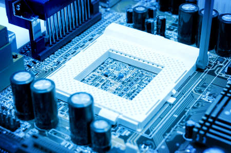 blue circuit board. high technolgy abstract Stock Photo - 9883472