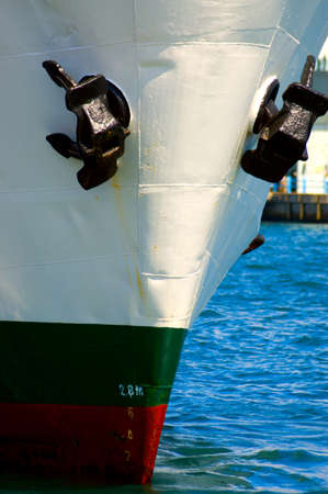 white ship in blue sea Stock Photo - 9883305