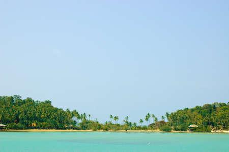 sea and sky in tropical island photo