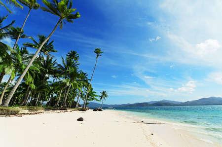 caribbean sea: Paradise beach. Sea and sky. Stock Photo
