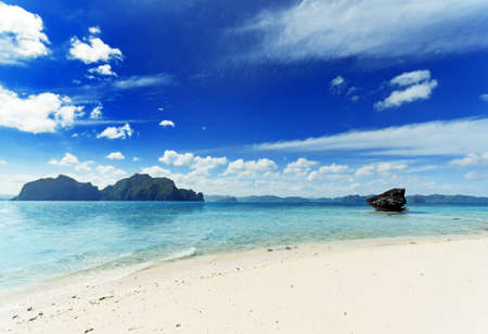 Paradise beach. Sea and sky. Stock Photo - 9990267