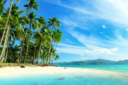 tropical beaches: Beautiful seascape. Sky and sea. Stock Photo