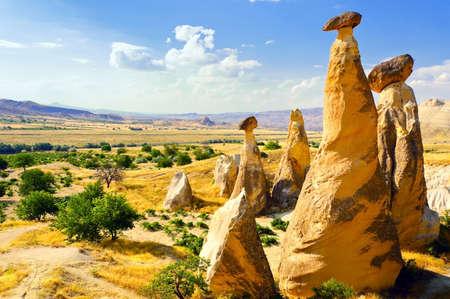 cappadocia: Magnificent rock landscape. Cappadocia, Turkey.