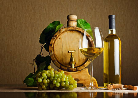 White wine on the table. Stock Photo - 10429345