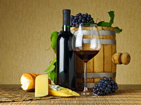 Wine and cheese on the table Stock Photo - 10429346