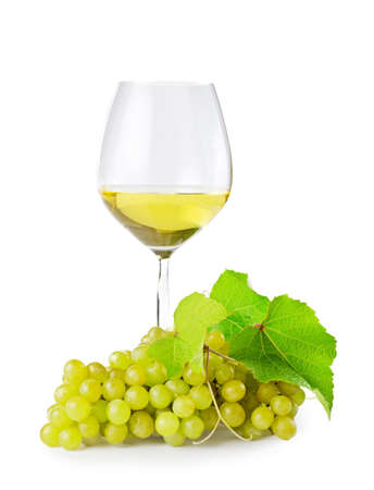 White wine on white background. photo
