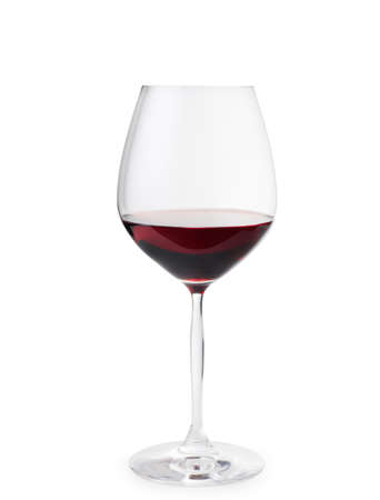 withe background: Red wine on withe background. Stock Photo