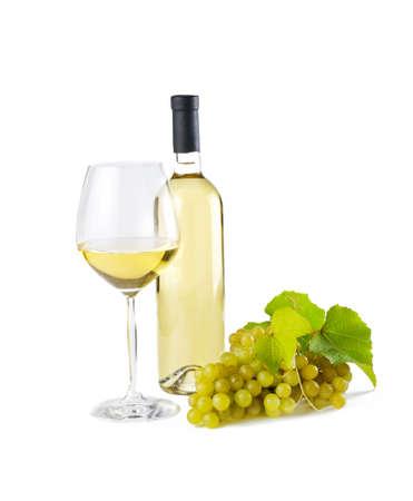 corcho: Blanco vino sobre fondo blanco.