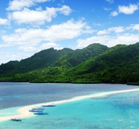 Beautiful tropical seascape. Sky and sea. Stock Photo - 10652447
