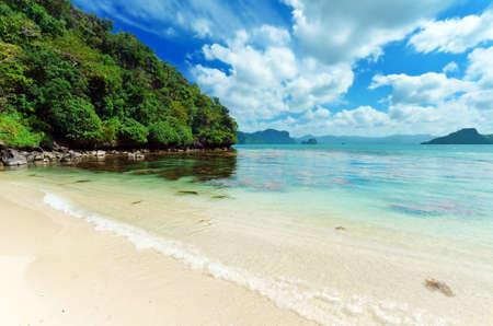 caribbean sea: Beautiful seascape. Sky and sea. Stock Photo