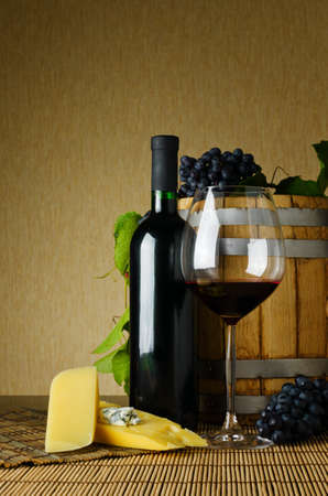 wine and cheese on the table Stock Photo - 10658437