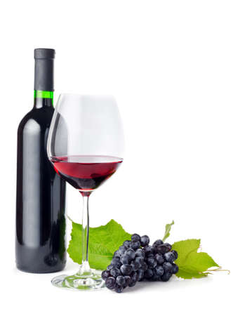 withe background: red wine on withe background.