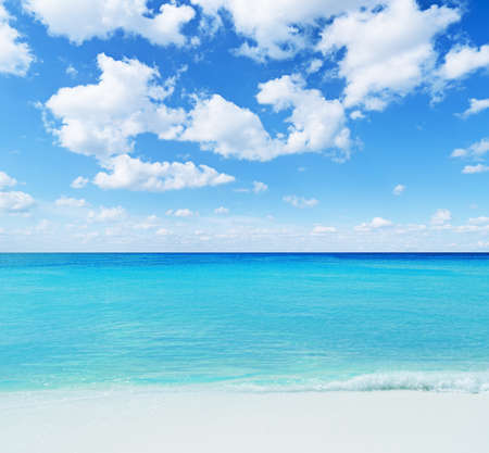 Beautiful tropical seascape. Sky and sea. photo