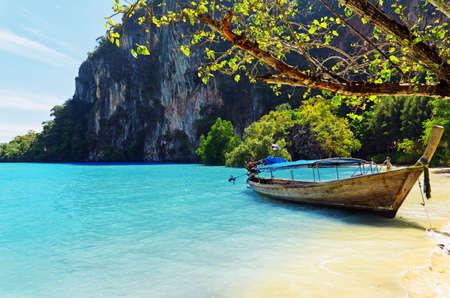 Tropical landscape. Railay Beach. Thailand. photo
