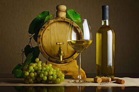 White wine on the table. Stock Photo - 11552323
