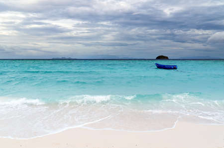 seashores: Tropical beach at cloudy weather.